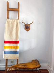50's Wool o' the West Hudson Bay Style Point Blanket in Size Full / Queen.