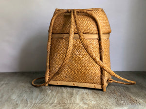 Rattan Pasiking Backpack Basket from Philippines.