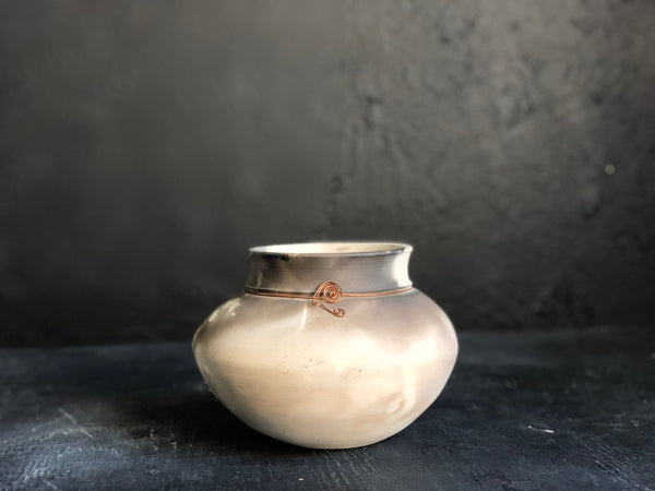 Vintage White Clay pottery