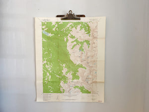 Vintage Colorado Survey Map from 1958 of Monarch Lake Quadrangle.