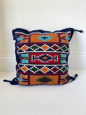 Southwestern Mexican Woven Wool Sham Pillow Cover