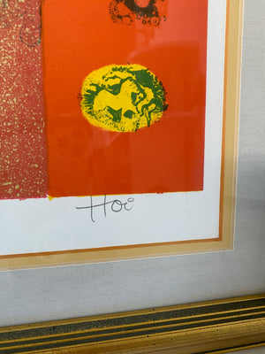 "Hoi Lebadang ""A New Dawn"" Original Pencil Signed and Numbered  Color Lithograph"