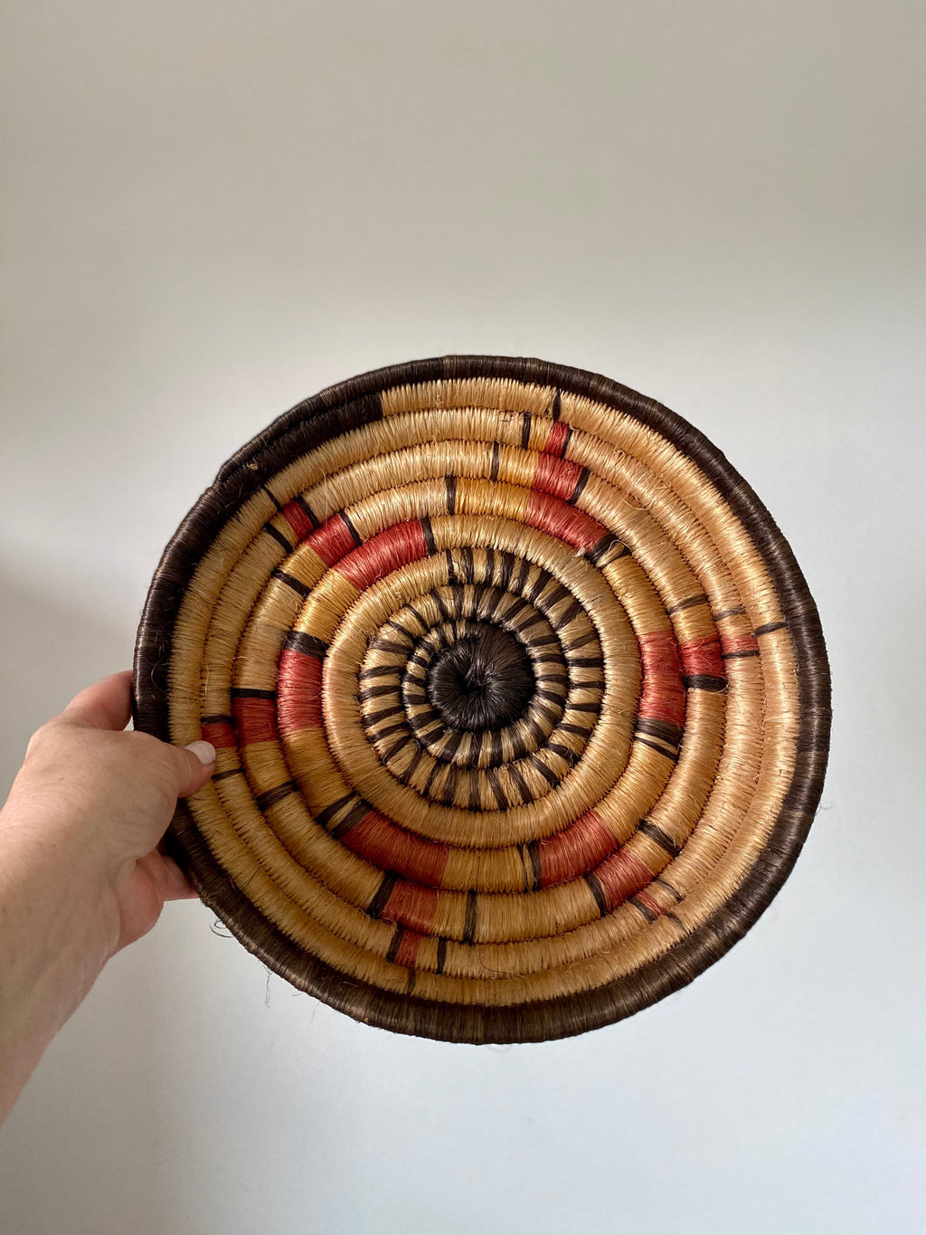 Vintage African Wall Grass Basket