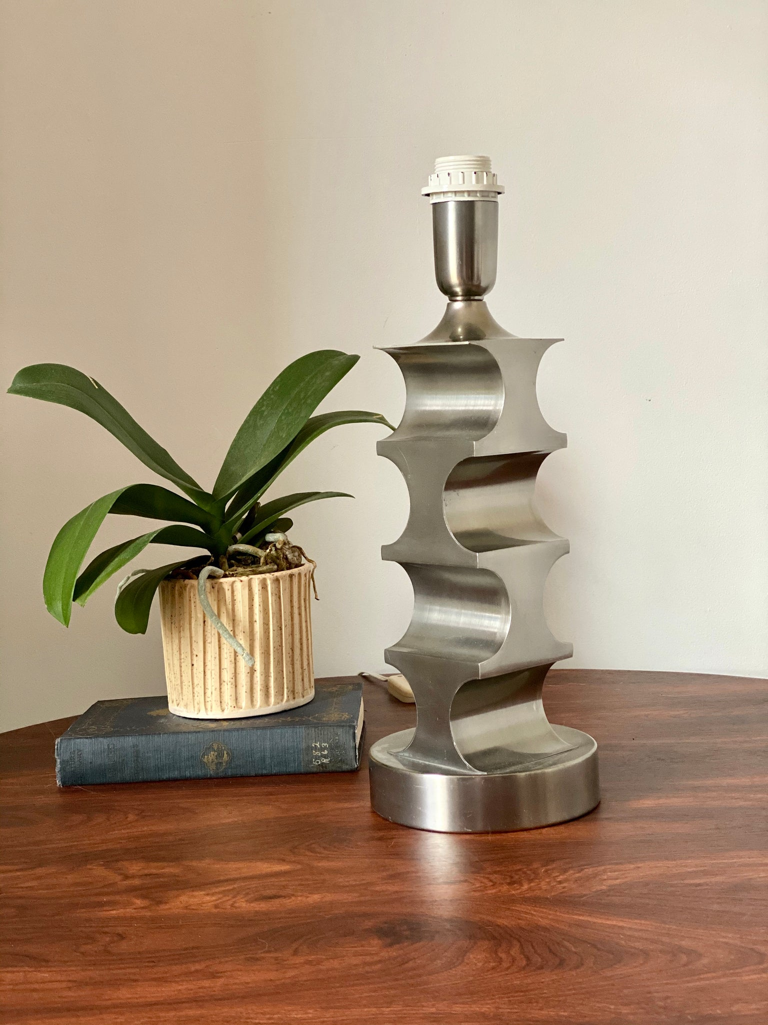 Italian Architectural Pewter Lamp