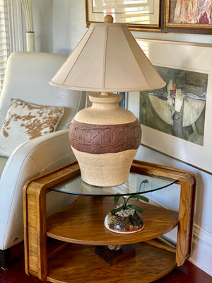 90's Adobe Southwest Scene Monumental Lamp by American Lamp Co.