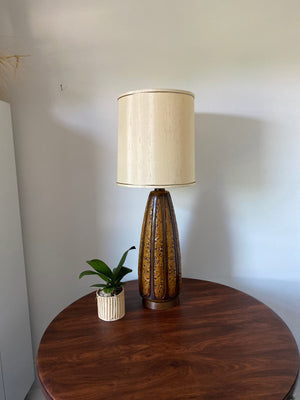 Mid Century Fat Lava Tall West Germany Brown Lamp