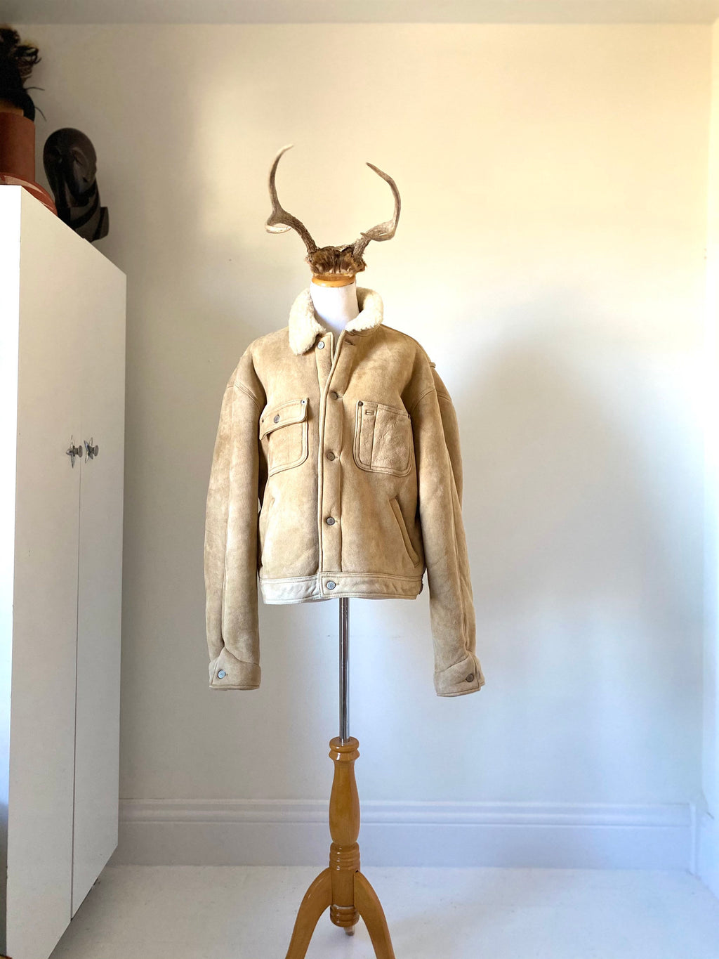 Polo by Ralph Lauren Sheepskin Shearling Bomber Style Men's Large