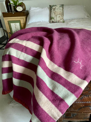 "40's Baron Woolen Mills ""Sun Rising"" Sun Point Wool Blanket."