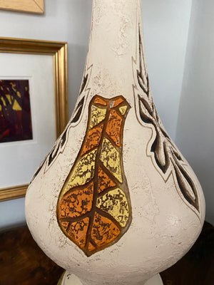 MCM Plasto  Abstract Chalkware Lamp