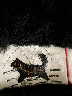 70's Mouton with an Inuit Design from the famous Spear & Picardi Furs.
