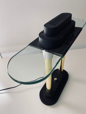 80's Postmodern Robert Sonneman for Kovacs Bankers Desk Lamp