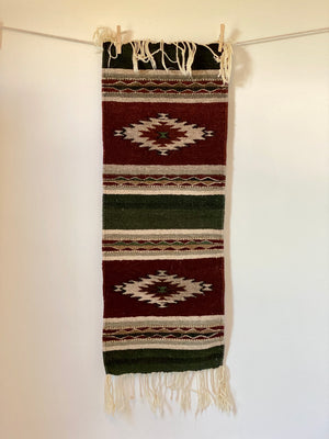 90's Zapotec Indian Wool Oaxaca Mexican Rug