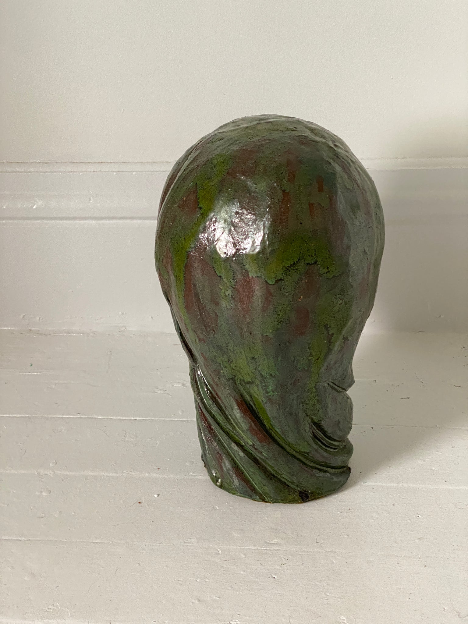 1970's Vintage Ceramic Man Head Bust Sculpture
