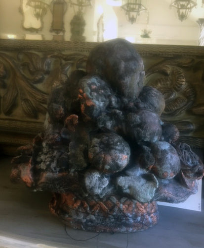Stone Fruit Sculpture copper verdigris finish