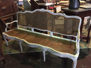 French Cane Back Sofa