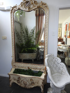 Italian Spechhio Fiorera-mirror with planter box
