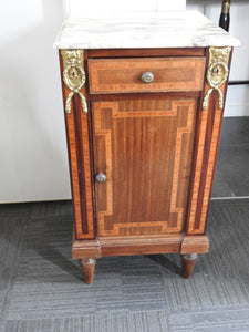 Marble Top Bedside Table/cabinet