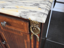 Marble Top Bedside Table/cabinet---SOLD