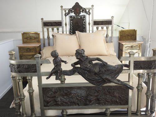 19th Century Iron Forged Queen Bed-----SOLD
