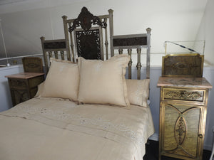 19th Century Iron Forged Queen Bed