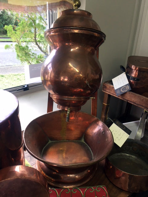 French Copper Wall Fountain----SOLD