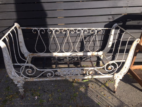 French Iron Daybed  SOLD