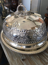 Sheffield Legumiera-silver serving platter and lid