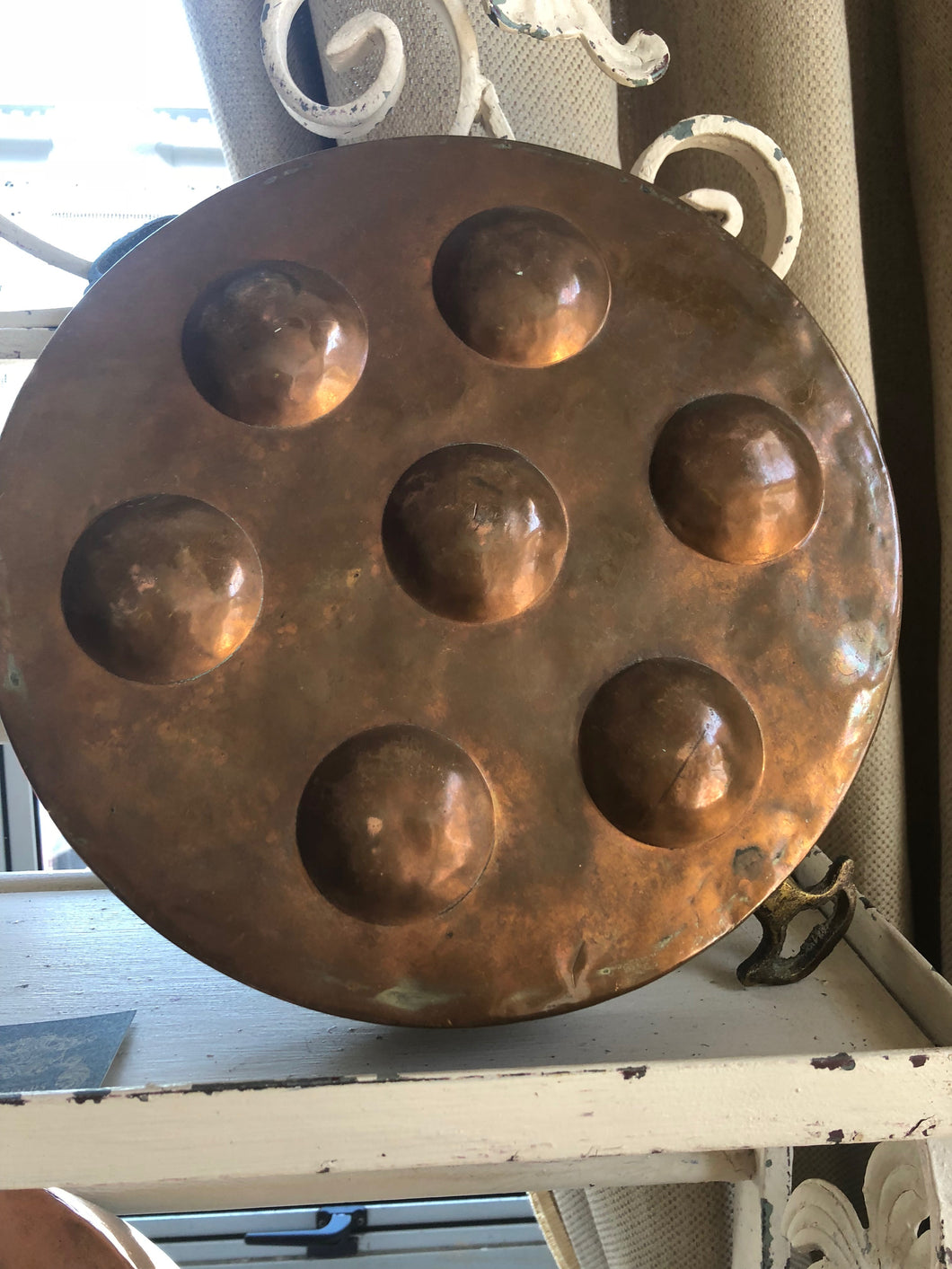 French Copper Egg Poacher