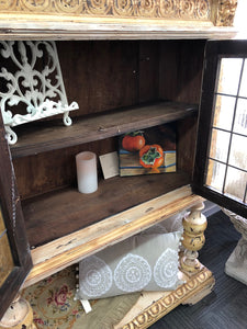 Florentine Leadlight Hutch Dresser