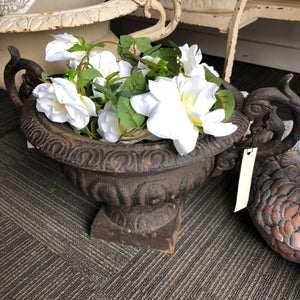 French Vintage  Cast Iron Urn----SOLD