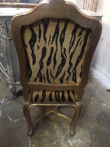 French Animal Print Dining Chair
