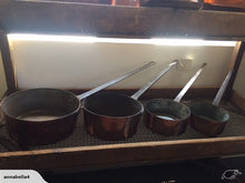 Set of 4 Copper Saucepans