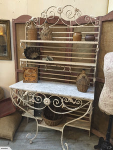 French Marble & Iron Kitchen or Dining Dresser