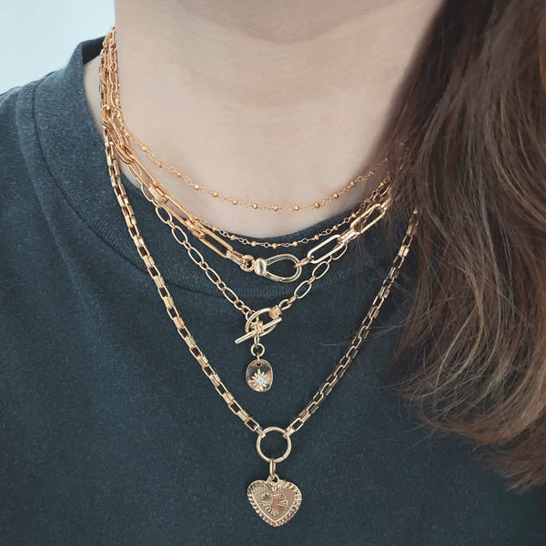 Collier double Milano pyrite