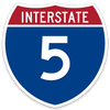 Interstate 5 Sticker