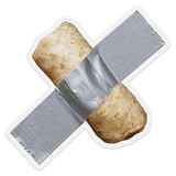 Duct Taped Burrito- Clear Sticker