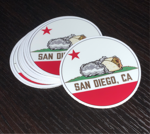 San Diego, CA Flag - Sticker
