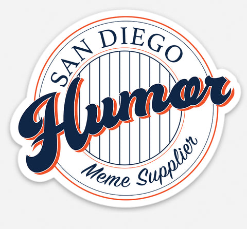 San Diego Humor Meme Supplier 'Padres' Retro Logo Sticker
