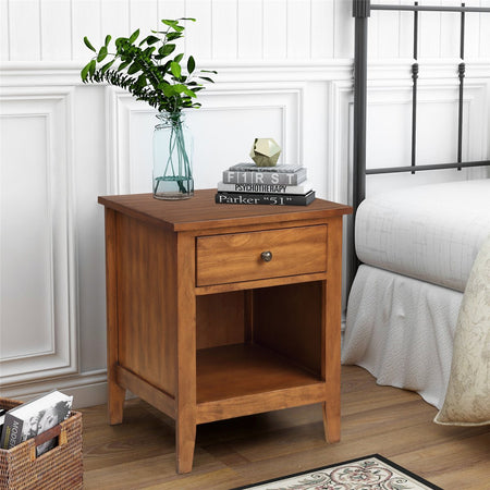 1 Drawer Nightstand Solid Wood | Traditional Design