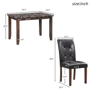 5-Piece Dining Set Table