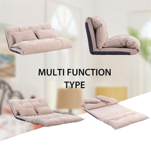 Adjustable Foldable Modern Leisure Sofa Bed Video Gaming Sofa with Two Pillows