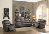 Barnaby Loveseat in Gray Polished Microfiber