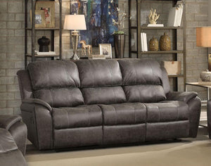 Barnaby Sofa in Gray Polished Microfiber