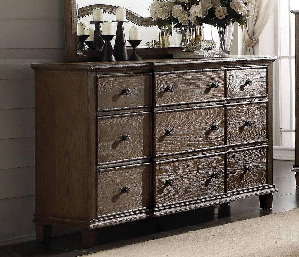 Baudouin Dresser in Weathered Oak