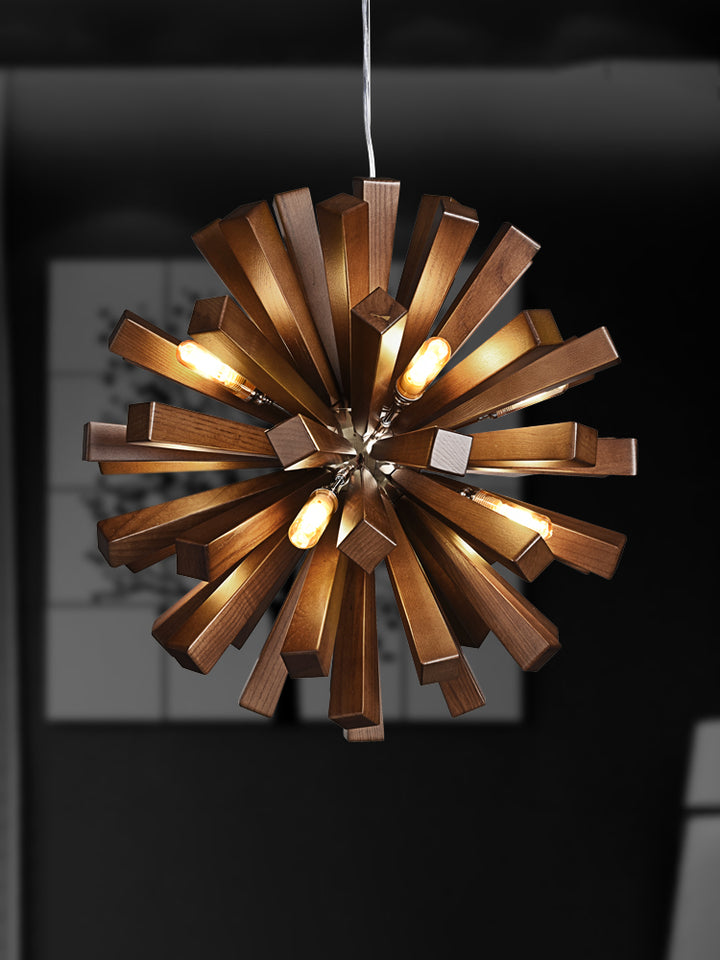 Blossoming Wooden Chandelier