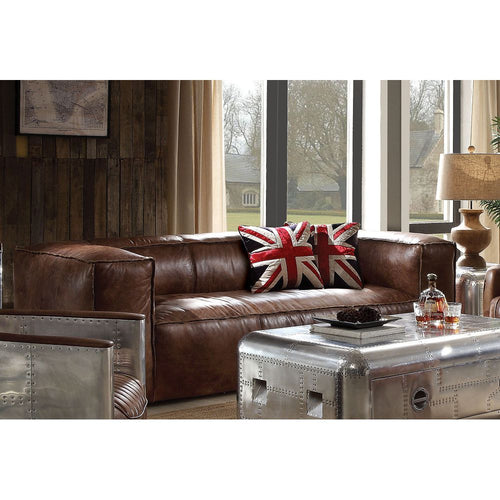 Brancaster Sofa in Retro Brown Top Grain Leather