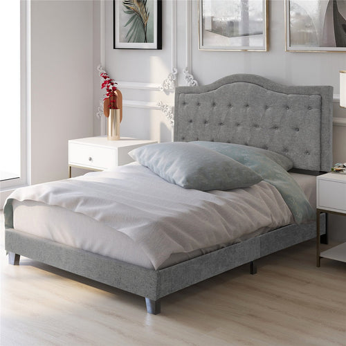 Classic style Upholstered Linen Bed Frame | Queen