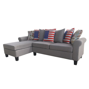 Contemporary Polyester-blend Upholstered Sofa Sectional | Multiple Pillows