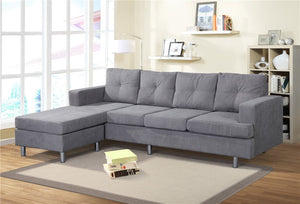 Couch and Sofa Sets for Living Room with Reversible Chaise Lounge L Shape Home Furniture