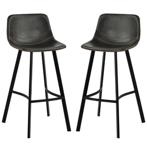 Vintage Leatherier Height Bar Stools Dining Chairs